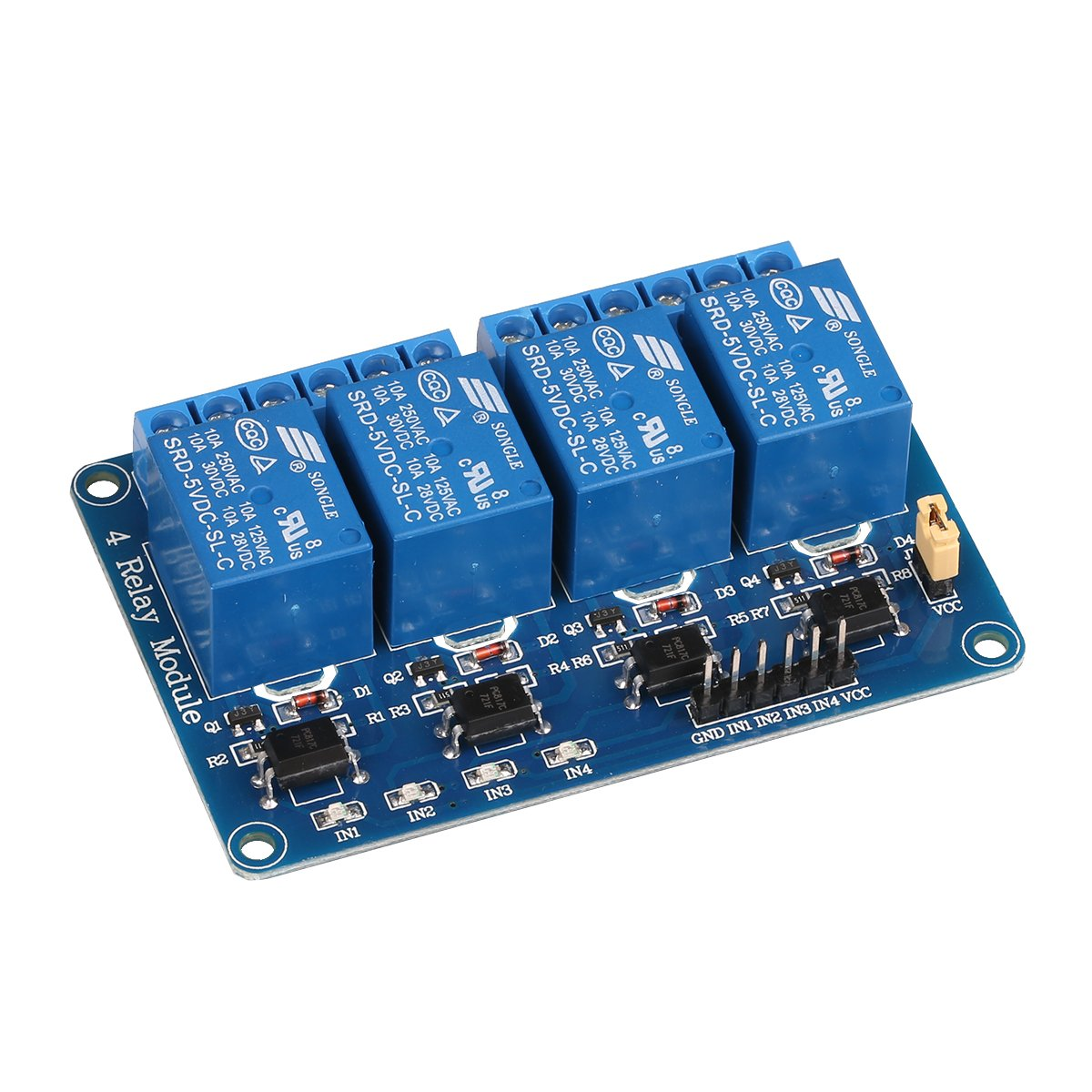 Jbtek 4 Channel Dc 5v Relay Module For Arduino Raspberry Rangkaian On Off Pi Dsp Avr Pic Arm Computers Accessories