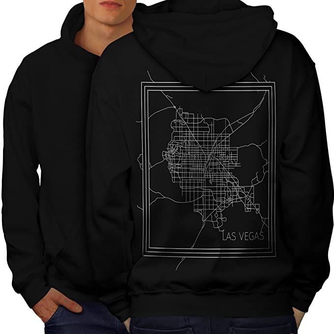 Amazoncom Wellcoda Las Vegas City Fashion Mens Hoodie United