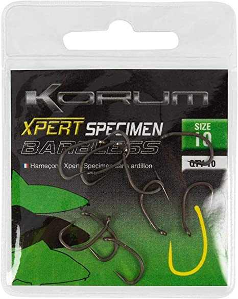 KORUM XPERT POWER HOOKS MICRO BARBED CARP HOOKS  10 PER PACK