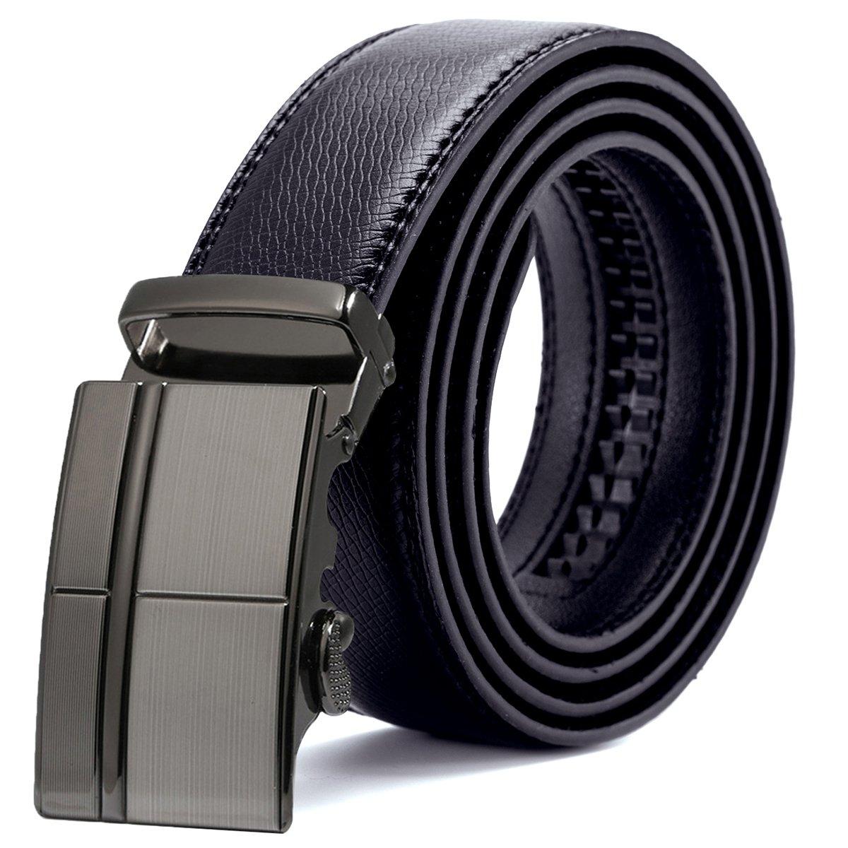 ITIEZY Ratchet Dress Belt For Men Click Belt Wide 1 3/8 with Automatic Buckle