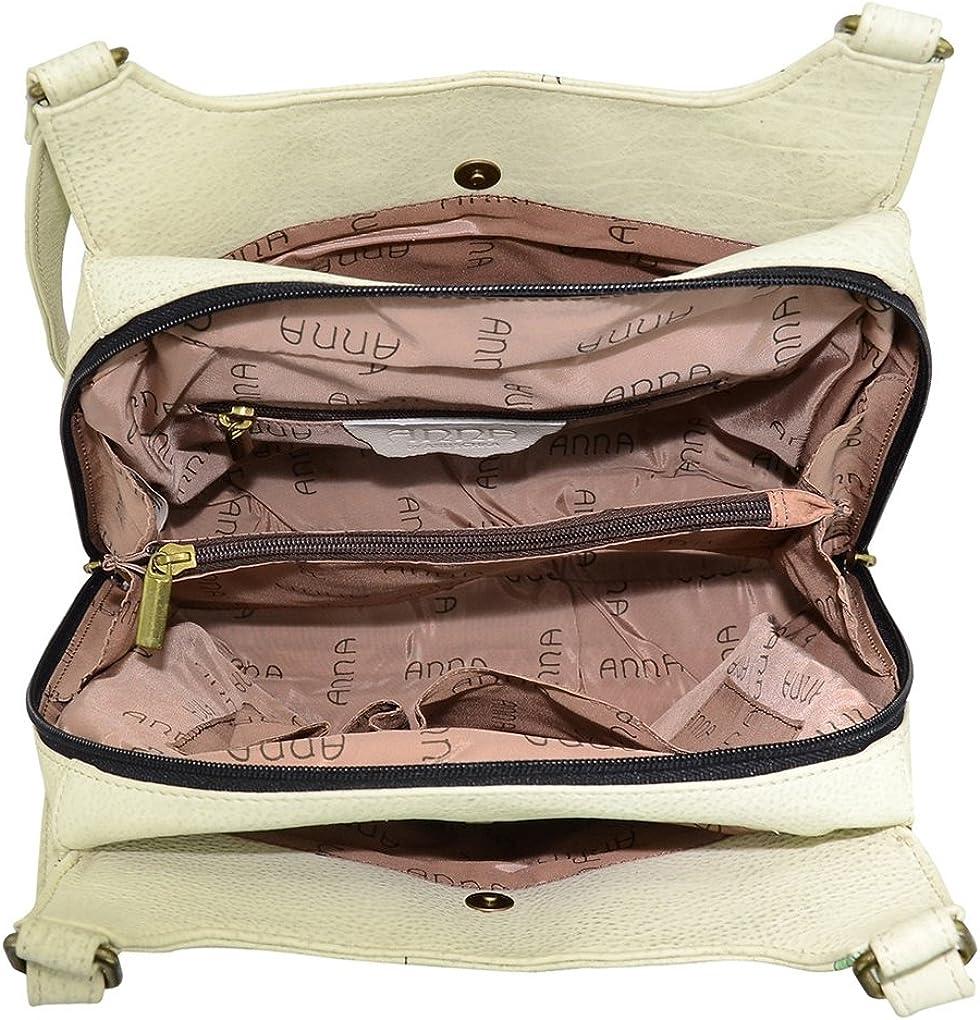 Anna by Anuschka Leather Hobo Shoulder Hand Painted Handbag Bag Large