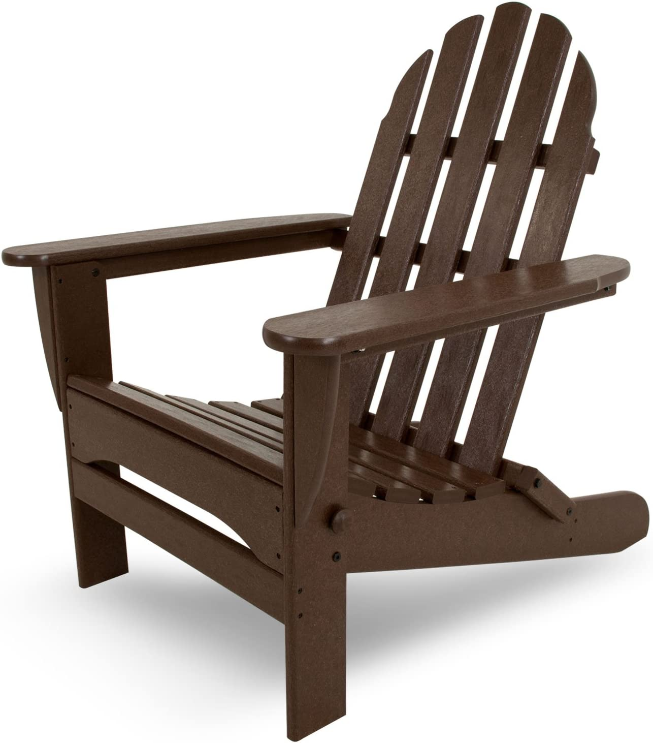 "POLYWOOD AD5030MA Classic Folding Adirondack Chair, 35.00"" x 29"" x 35.00"", Mahogany"