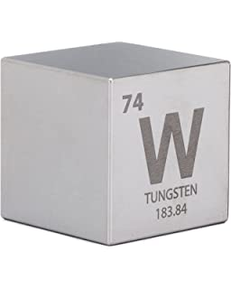 Tungsten 15 cube one kilo block weight amazon industrial tungsten 15 one kilo cube engraved periodic table symbol urtaz Choice Image