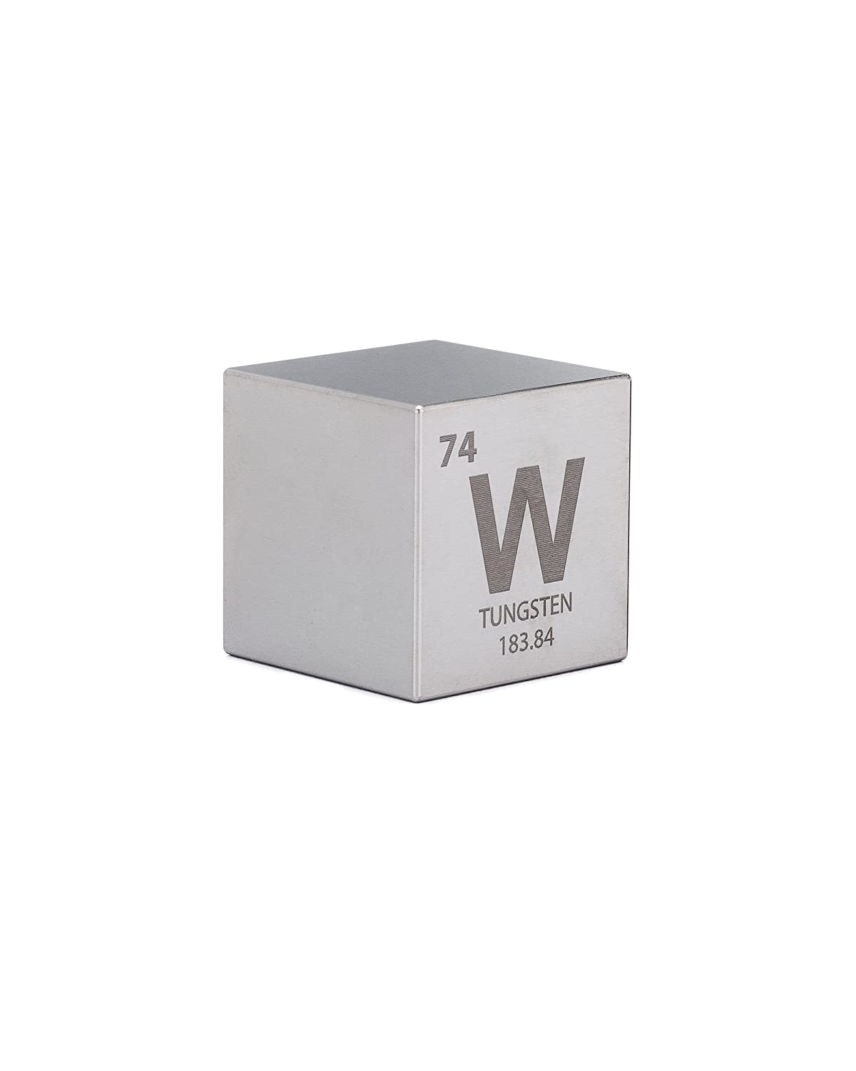 Tungsten 15 One Kilo Cube Engraved Periodic Table Symbol Amazon