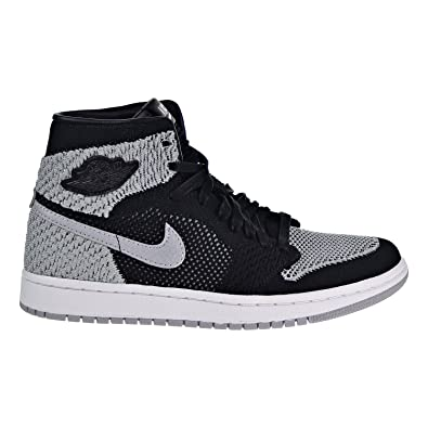 timeless design fc672 728d4 Nike Jordan Kids Air 1 Retro Hi Flyknit BG Black WolfGrey White 919702-