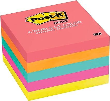 Post-it notas Value Pack, 3 en x 3 en, Marsella Collection, 24 ...