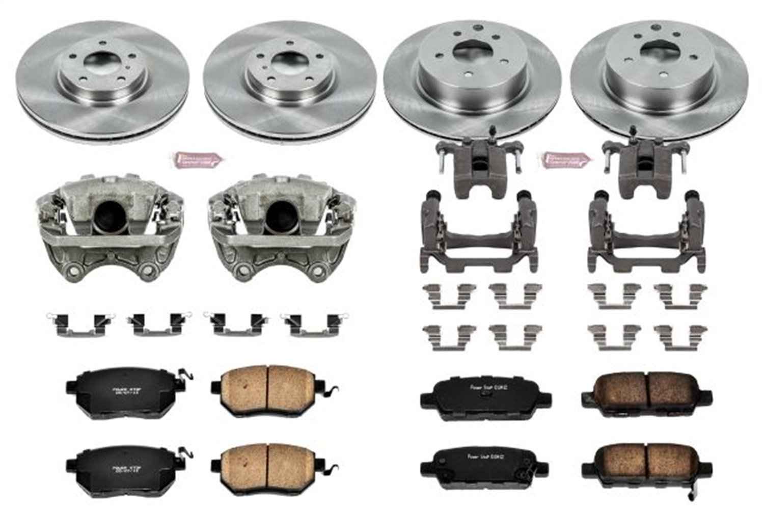 Power Stop KCOE117 Autospecialty 1-Click OE Replacement Brake Kit with Calipers