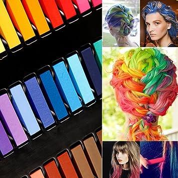 avilady hair chalk 24 pastels pour cheveux coloration cheveux simplement lavable l - Coloration Pastel Cheveux