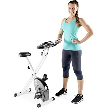 top selling Marcy Foldable Exercise Bike with Adjustable Resistance for Cardio Workout and Strength Training NS-652
