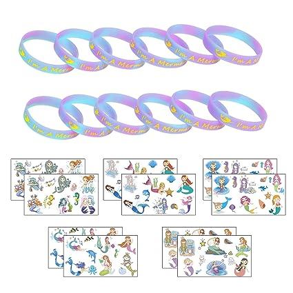 Amazon.com: ZERHOK - 12 pulseras y 10 hojas de sirena con ...