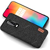 Fortify Soft Fabric Hybrid Protective Back Case/Cover Designed for OnePlus 7 - Black