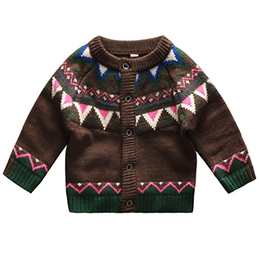 Amazoncom Coodebear Baby Boys Round Collar Clothing Knitted