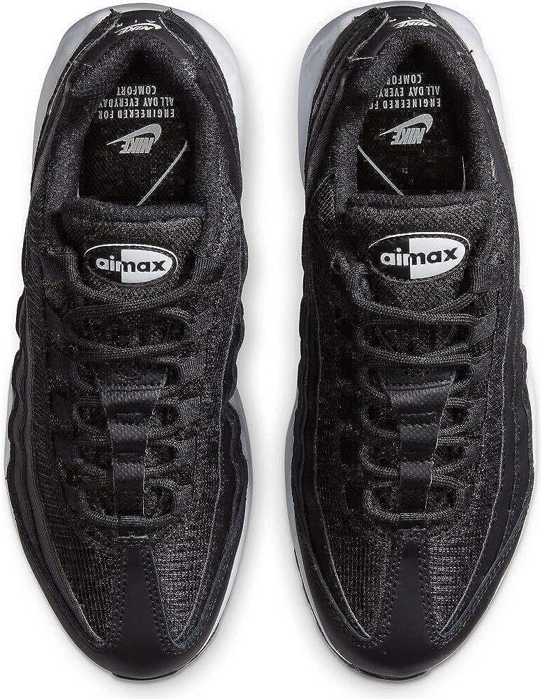 Nike W Air Max 95, Chaussure de Course Femme Black White Black
