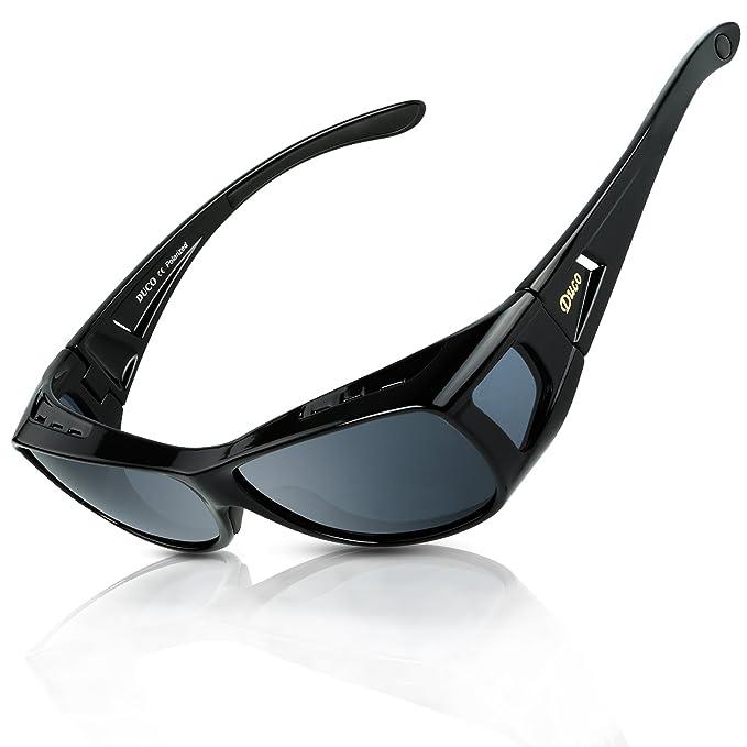 DUCO Gafas Polarizadas para usar con Anteojos Debajo 8953 Tamaño Común Color Negro