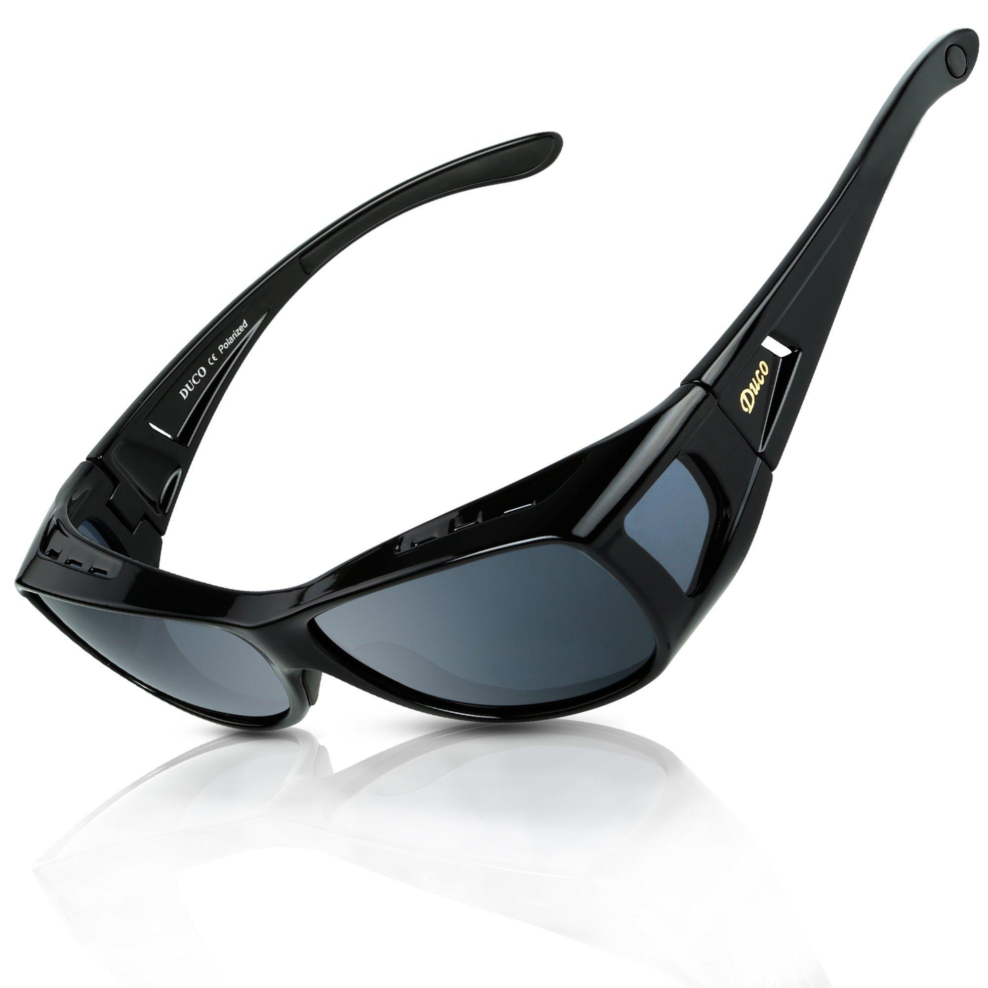 5c27c87acc0 DUCO Men s and Women s Polarised Wrap Around Fit-Over Sunglasses over  Prescription Glasses 8953 product
