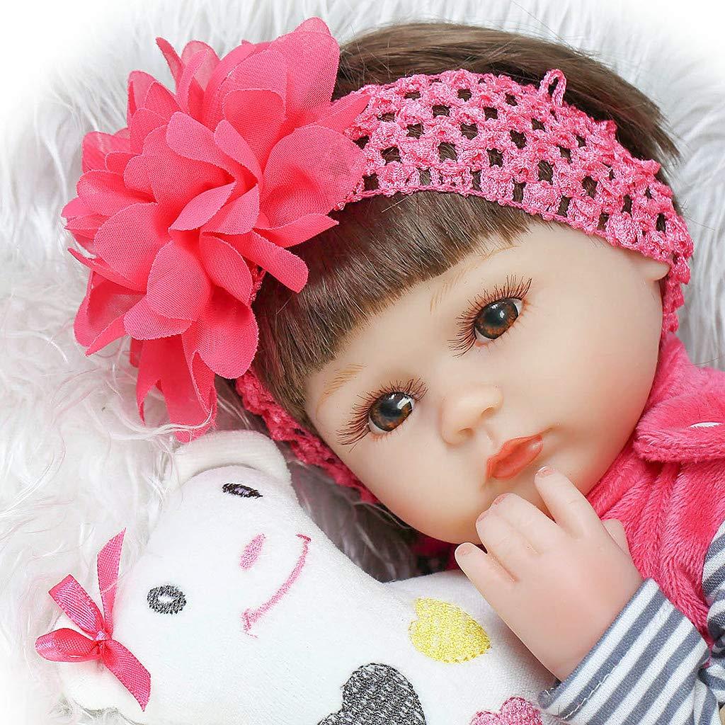 RealTouch Puppe für Neugeborene, Neugeborene, Neugeborene, mit handbemalten Funktionen und handangewendetem Haar, Vinylhaut, 40,6 cm B07K6KPRM3 Puppen 0f47f1