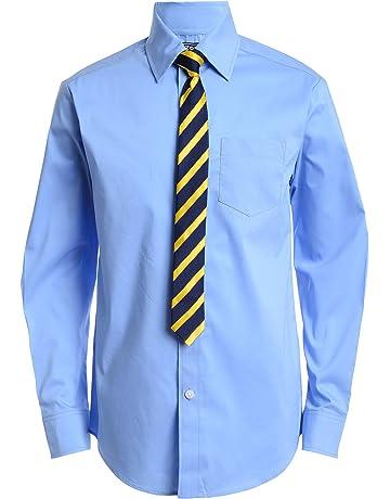be2a6afa99e Izod Boys  Long Sleeve Dress Shirt with Tie