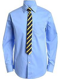 405706521 Izod Boys' Long Sleeve Dress Shirt with Tie