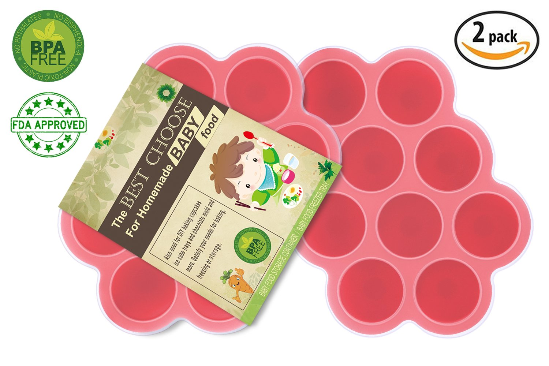 【最安値】 HoneyHolly ベビーフードフリーザートレイ 製氷皿 離乳食 2セット シリコン 2 離乳食 HoneyHolly 保存容器 冷凍可能 小分け 使う分だけ 取出し簡単 超柔らかい 滑り止め 赤ちょん 高品質 無味無臭 FDA&BPA認証-レッド 2 Pack Red-10 Cubes B0749L2P59, 仁摩町:f4fcf8ad --- beyonddefeat.com