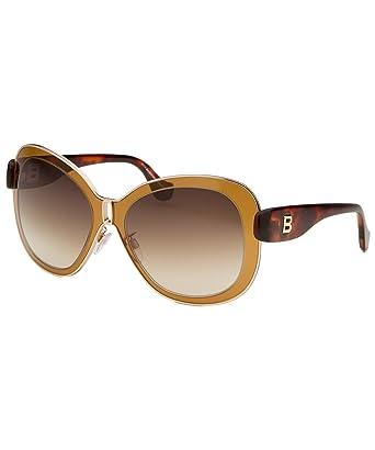 ae54edf759506 Balenciaga Women s Oversized Gold-Tone and Brown Sunglasses at Amazon  Women s Clothing store