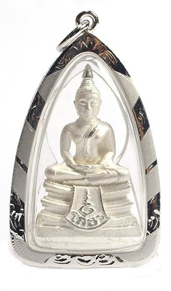 Amazon buddha pendant thai amulet white color gold designer buddha pendant thai amulet white color gold designer locket necklaces thai buddha luangpho aloadofball Images