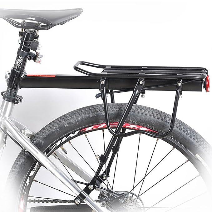 Bicicletas Parrilla Portaequipajes / Soporte de bicicletas / Bastidor trasero de bicicleta con logotipo reflectante, 50kg / 110lbs carga