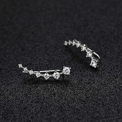 Crystals Ear Cuffs Hoop Climber Hypoallergenic Earring