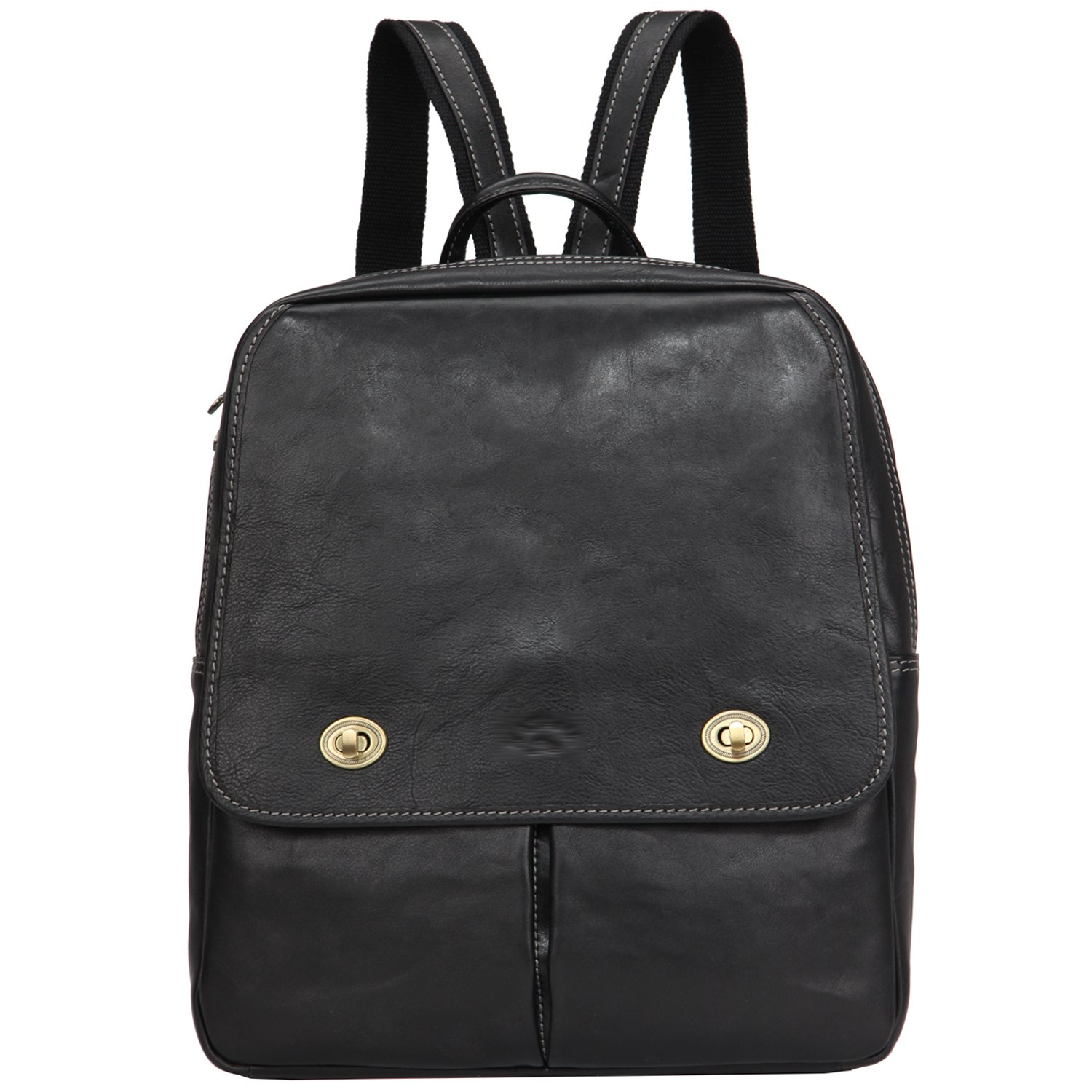 Vintage Full Grains Italian Leather Backpack for Women Travel Mid Size Flap  Over U-Zips d92498d6eccc4