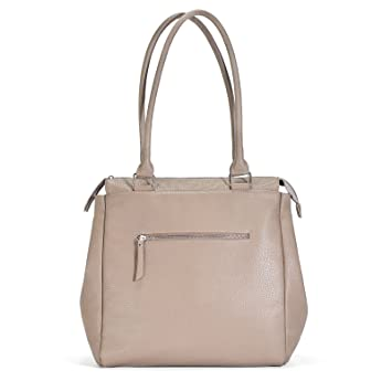 b8607cf4c Amazon.com   Sabrina Soto Grey Two Way Tote Diaper Bag   The Perfect Gift  for a New Mom   Baby