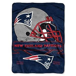 "Officially Licensed NFL ""Prestige"" Plush Raschel Throw Blanket, 60"" x 80"", Multi Color"