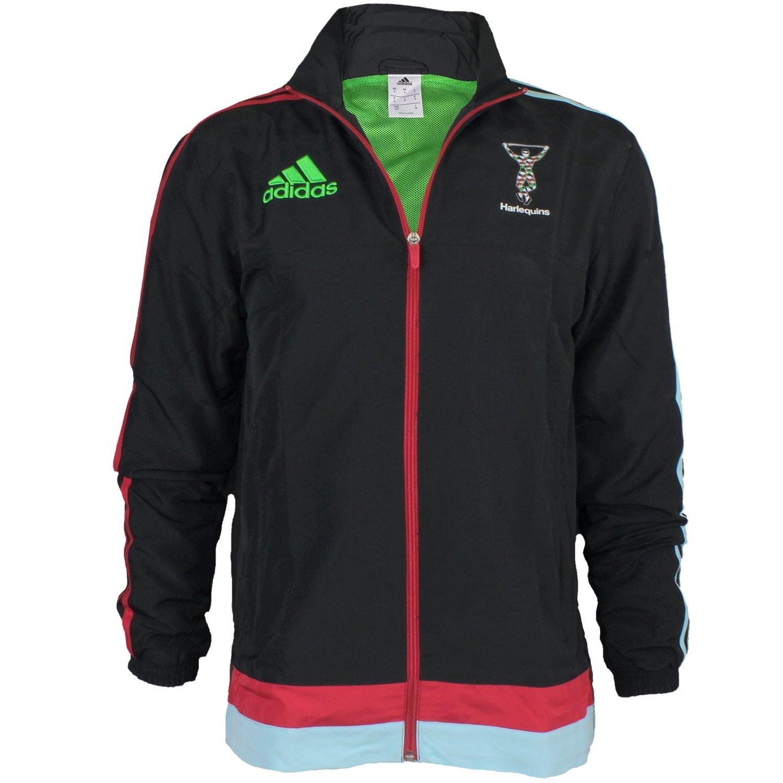 Adidas Harlequins Presentation Jacket S92620 Herren Fanjacke / Rugbyjacke / Sportjacke Schwarz