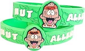 AllerMates Kids Medical Wristband - Tree Nut Children's Medic Alert Allergy Awareness Bracelet (2 Pack)