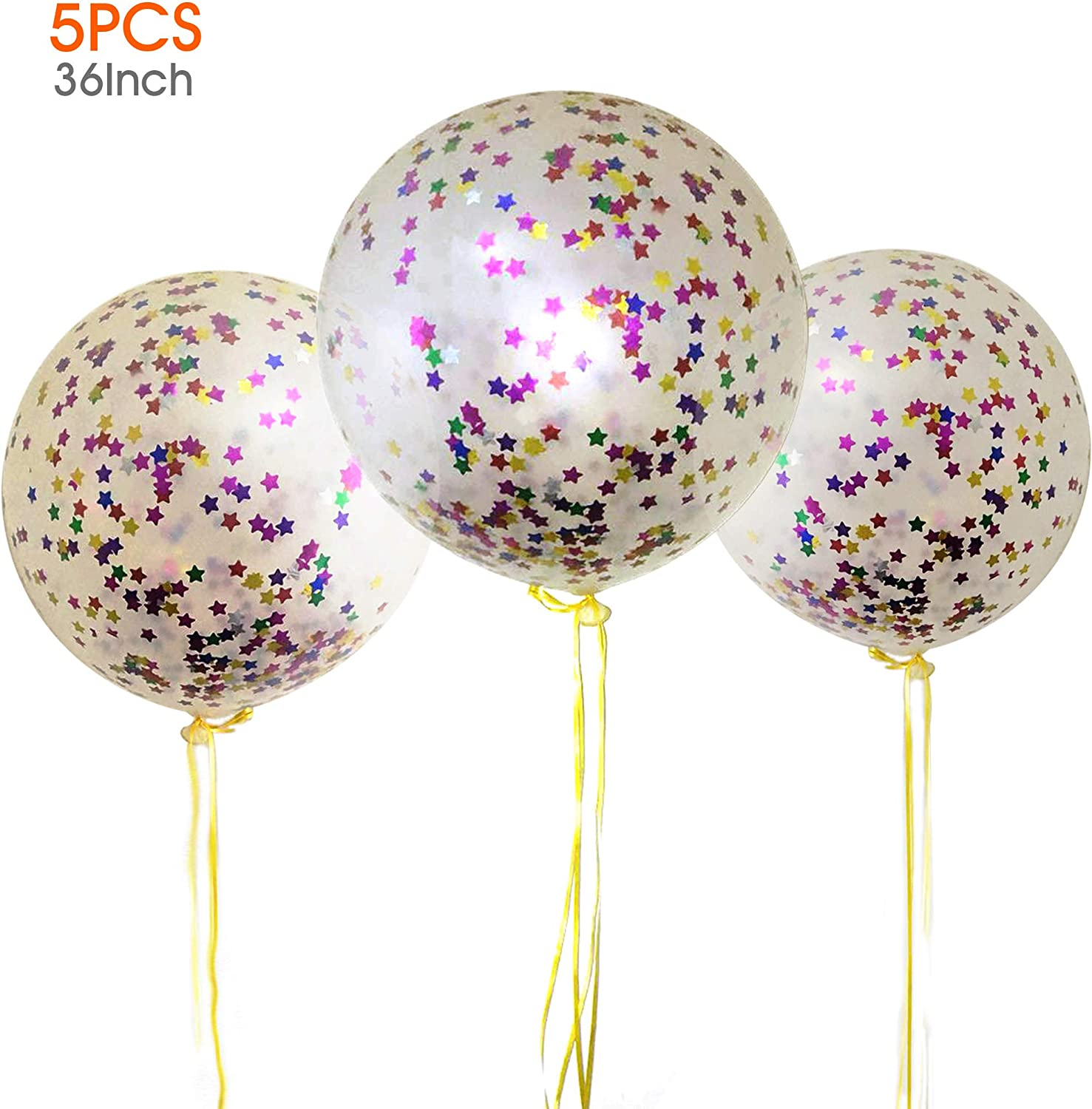 Pink and Mint and Gold 60cm Confetti Balloon giant jumbo latex helium or air confetti filled balloons clear qualatex transparent.