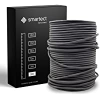 smartect Textilkabel för Lampor Svart - 2 Meter Tvinnad trasa täckt Tråd - 3 Prong (3 x 0.75mm²) Trasa Elektrisk Sladd…