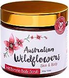 100% Natural Exfoliating Body Scrub with Australian Wild Boronia Essential Oil for Healthy Skin – 10.6 oz / 300g