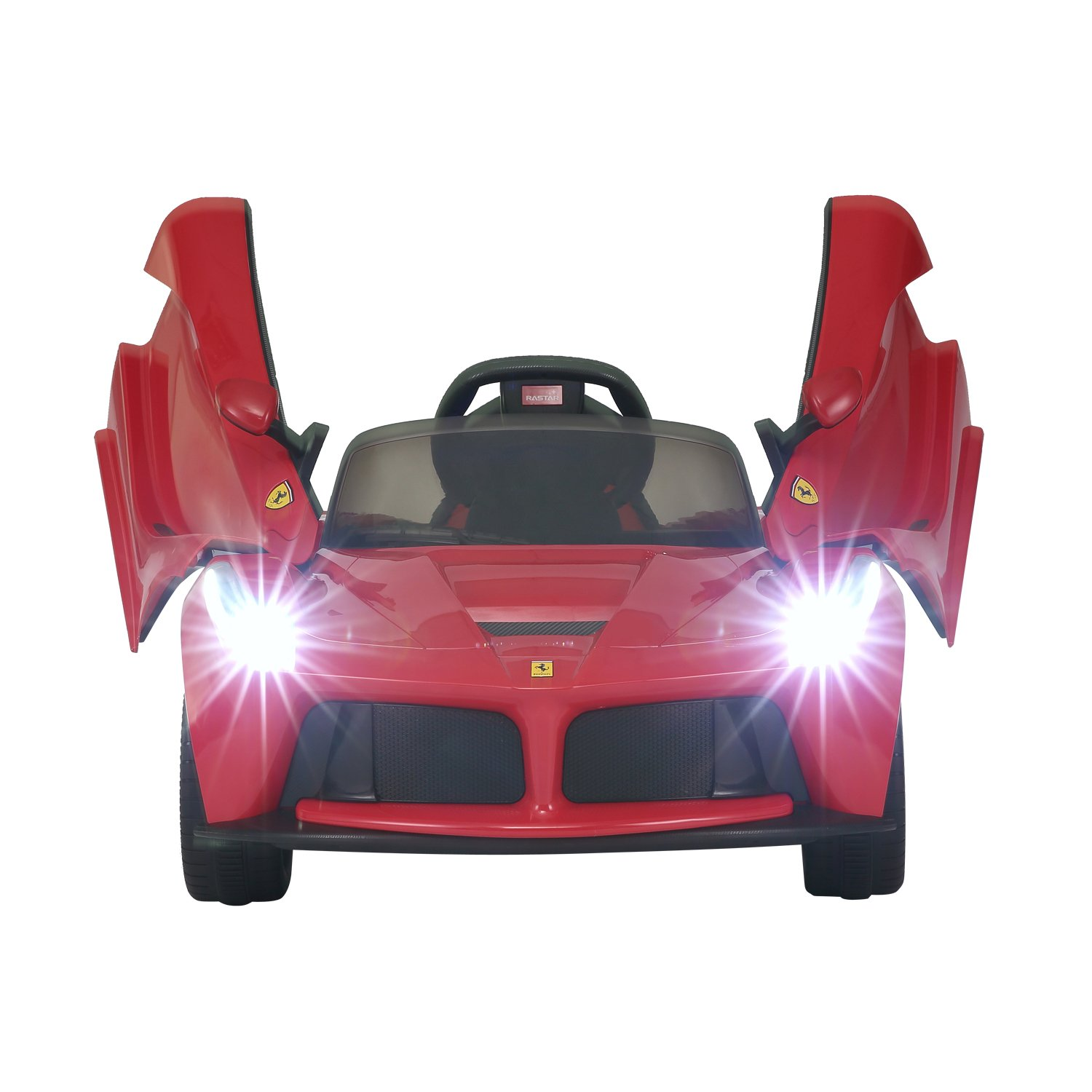 amazoncom aosom 12v ferrari laferrari kids electric ride on car with mp3 and remote control red toys games