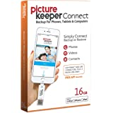Picture Keeper CONNECT 16GB Portable Flash USB Backup and Storage Device Drive for Mobile Phones Tablets and Computers