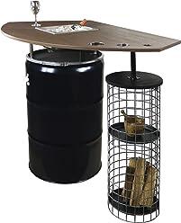 Möbel & Wohnen Partytisch Cage Möbel Stahlfass Als Stehtisch Mit Integriertem Getränkekühler