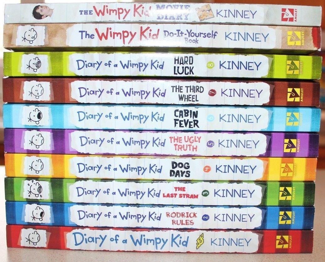Diary of a wimpy kid collection 10 book set jeff kinney diary of a wimpy kid collection 10 book set jeff kinney 9781782352358 amazon books solutioingenieria Choice Image