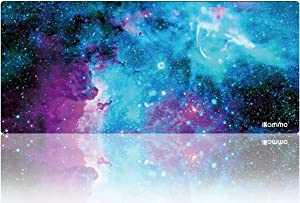 """Large Gaming Mouse Pad Extended Cute Computer Mouse Pad Large Desk Pad XXL Big Office Desk Mouse Mat/Pad with Waterproof Surface-Optimized Gaming Surface 35.4""""x15.7""""x0.8"""")(XXL-038, Blue Galaxy)"""