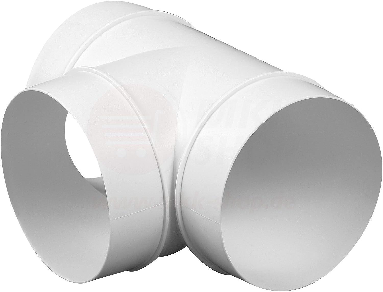 Tube da/ération en plastique Tube rond entr/ée Verbindungsst/ück mit R/ückstauklapp sortie dair R/éducteur connecteur /Ø 80 100 110 120 125 150 200 mm Syst/ème de ventilation Coude ABS clapet anti-retour Bride PVC