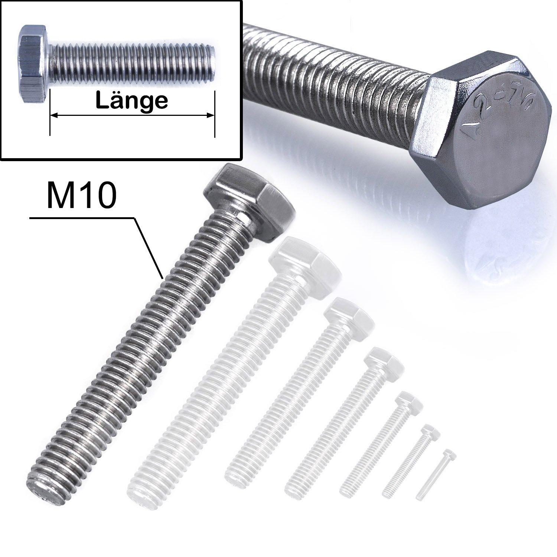 10 Stk Sechskantschraube /& Mutter DIN 601 M8 x 16 verzinkt