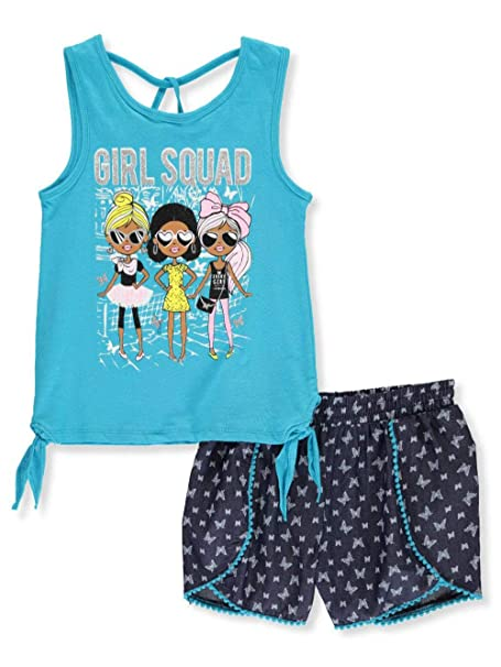 Real Love Girls/' 2-Piece Shorts Set Outfit