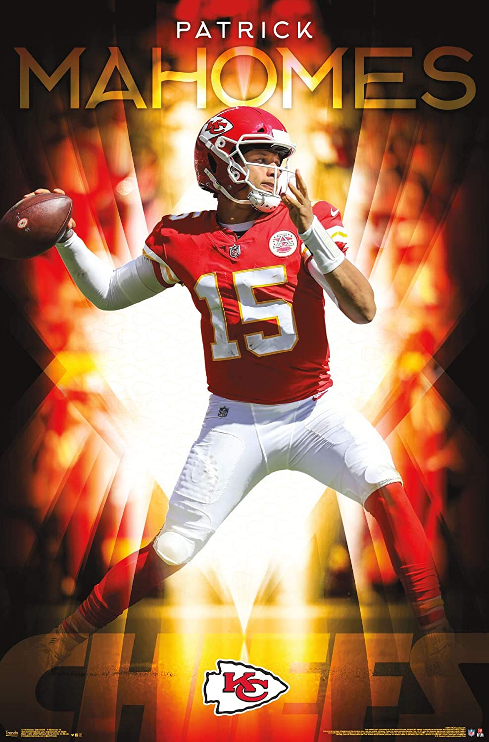 Trends International Nfl Kansas City Chiefs Patrick Mahomes Ii Wall Poster 22 375 X 34 Premium Unframed