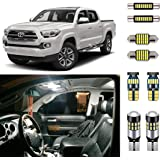 AUTOGINE Super Bright 6000K White LED Interior Light Kit Package for 2016 2017 2018 2019 2020 Toyota Tacoma + Install…
