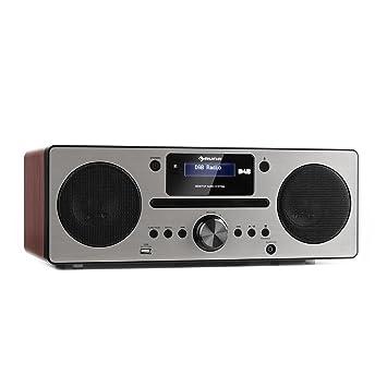 AUNA Harvard Equipo de música - Reproductor de CD - Receptor Dab/Dab+ - FM - Bluetooth - USB - AUX - Memoria 80 emisoras - Función RDS - Mando ...