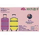 【KK】オーストラリア Australia(Vodafone)4G-LTE/3G 20日間 5GB データ通信 SIMカード 外遊カード