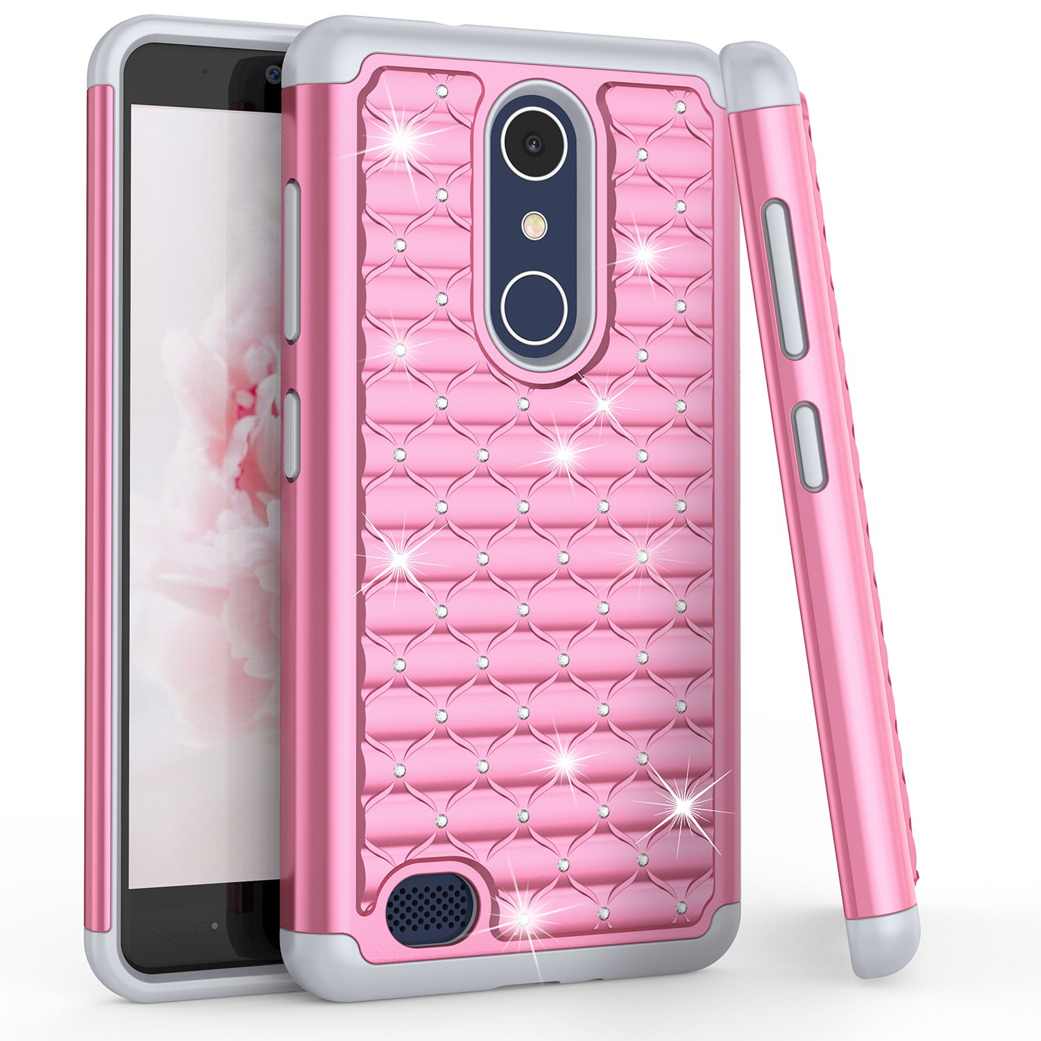 huge selection of 7a184 7533a TILL ZTE Blade X Max Case, TILL Max XL/ZMax Pro Studded Rhinestone Crystal  Bling Diamond Sparkly Luxury Shock Absorbing Hybrid Defender Rugged Slim ...