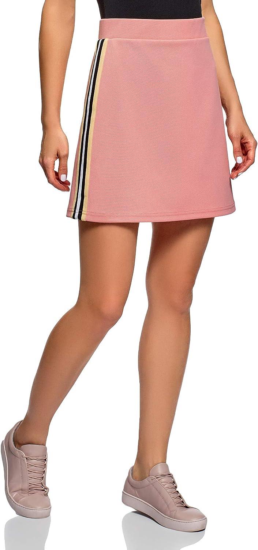 oodji Ultra Mujer Minifalda de Tejido Texturizado