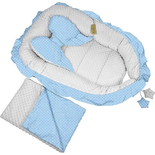 Babynest Kuschelnest Kokon Baumwolle Babybett 3-teilig